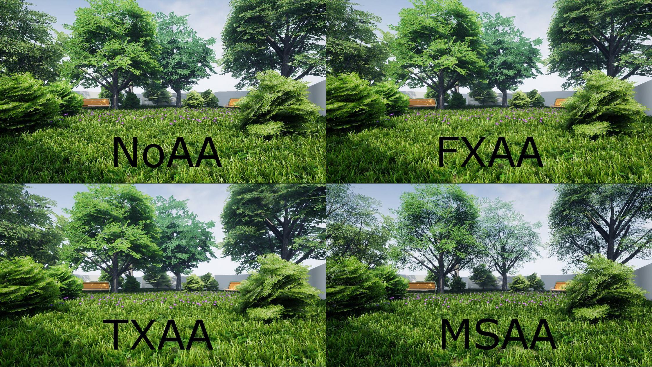 4 types of anti-aliasing explained