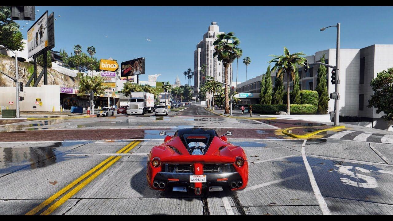 GTA 5 red sports car