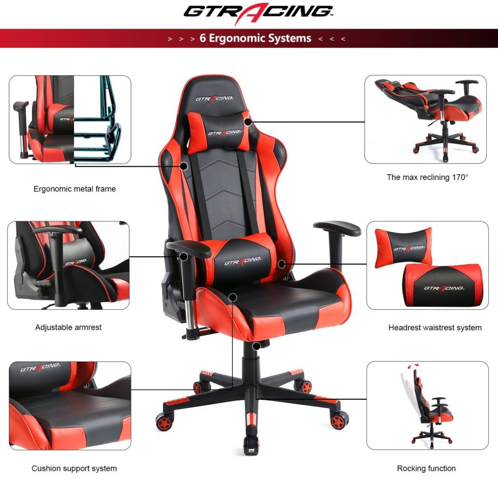 Gaming chair with features