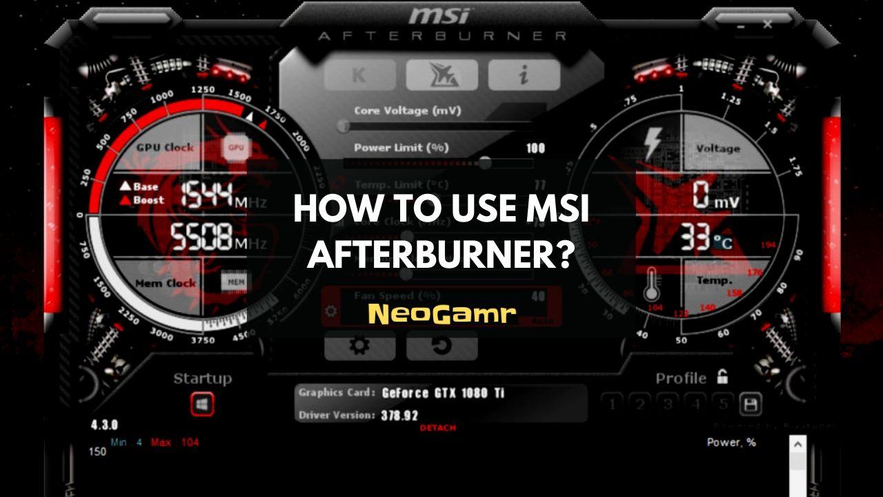 How To Use MSI Afterburner (Thumbnail)