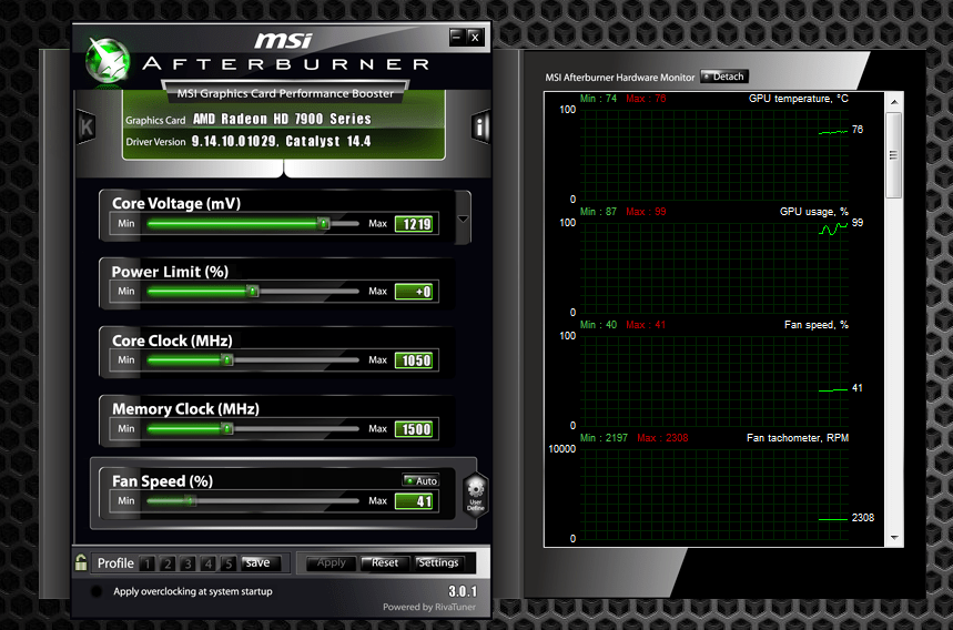 Msi Afterburner Panel