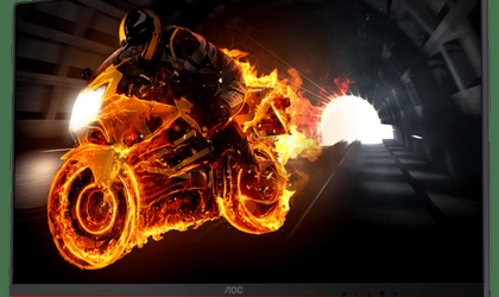 Bike in Gaming Monitor