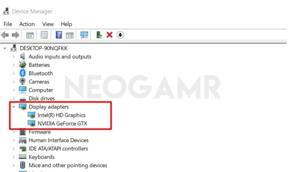 Display Adapters in Device Manager