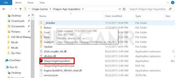 Dragon Age Inquisition Installation Folder