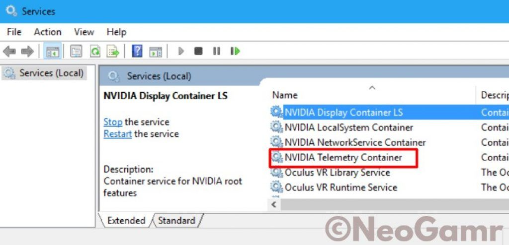NVIDIA Telemetry Container in Network Store Interface Services