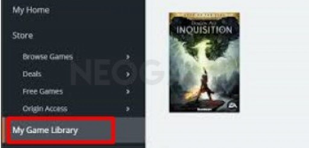 Origin Client My Games Library Dragon Age Inquisition
