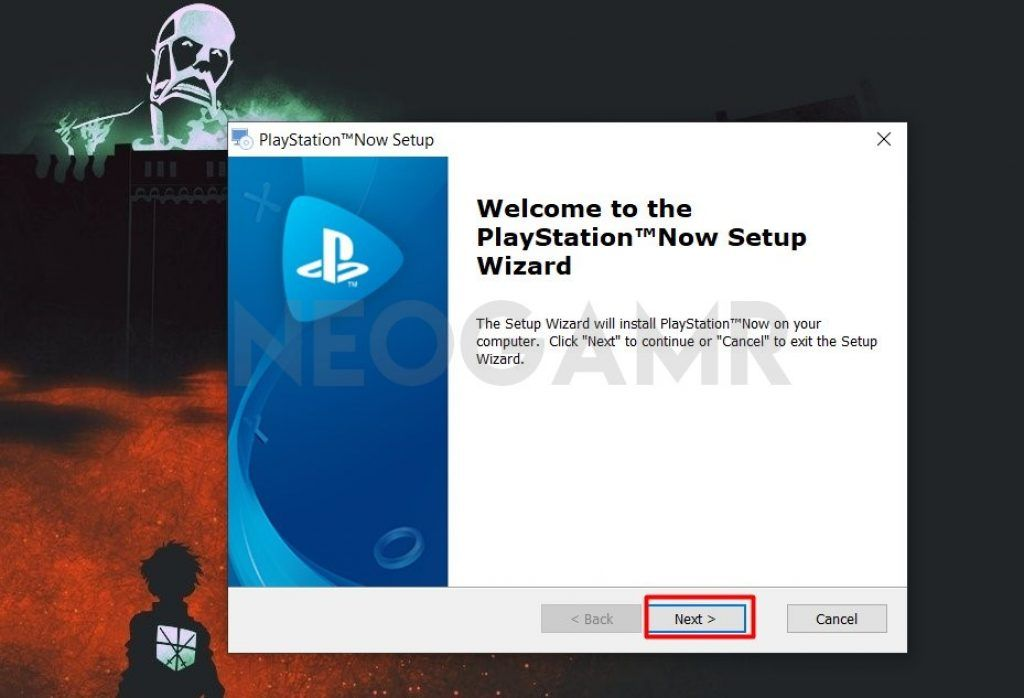 Playstation Now Installation Panel