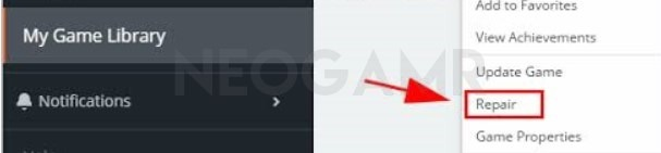 Repair Game in Origin Client