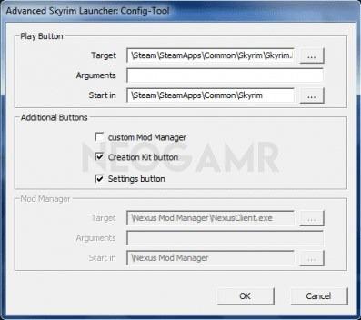 Skyrim Launcher Config Tool Dashboard
