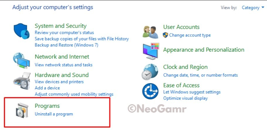Windows Computer Settings