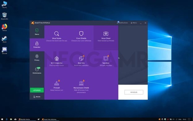 Avast Antivirus Dashboard