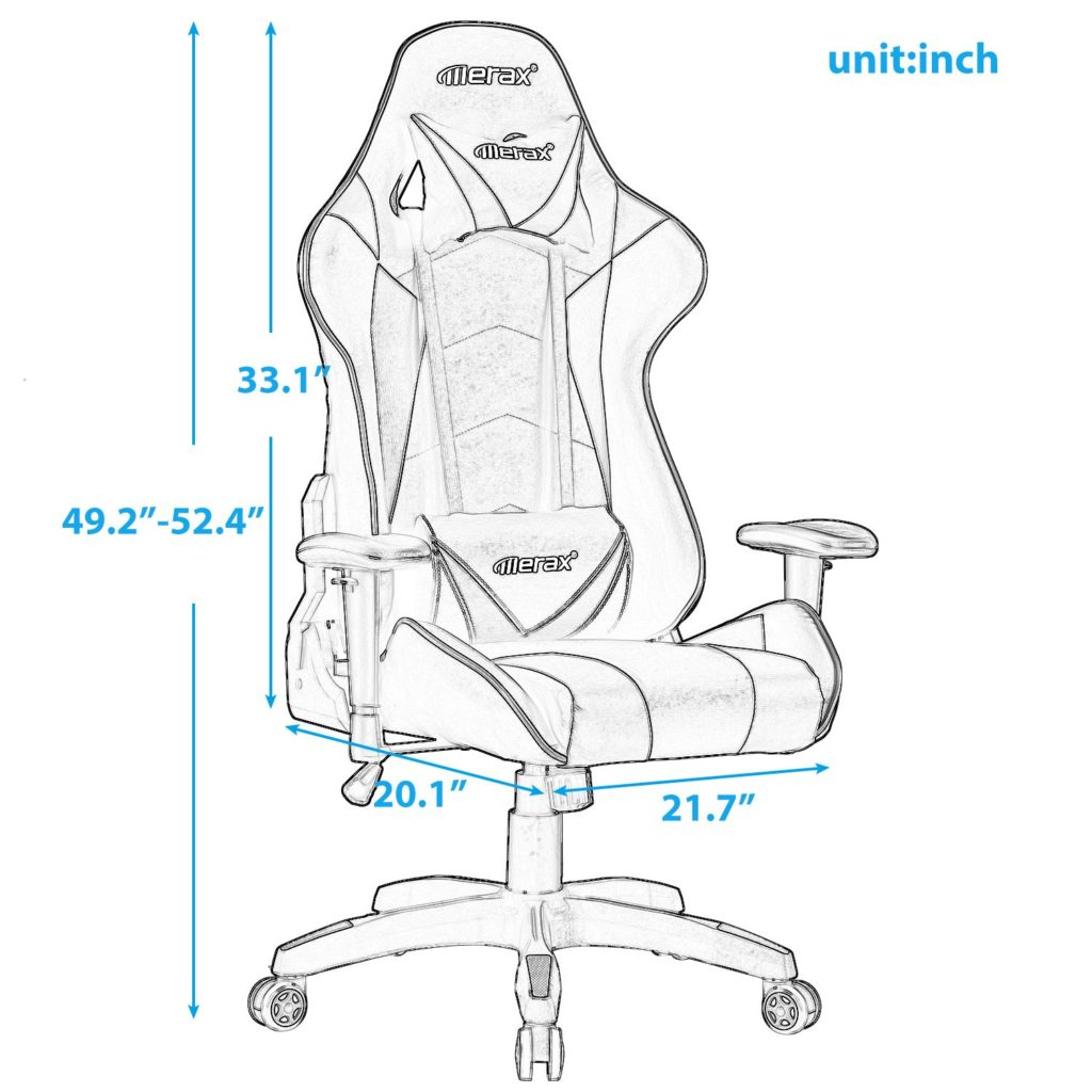 Gaming chair size