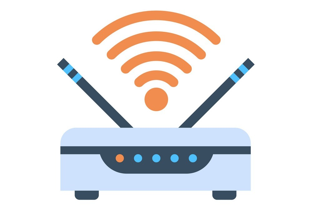 Image of Wifi Router Icon in Vector