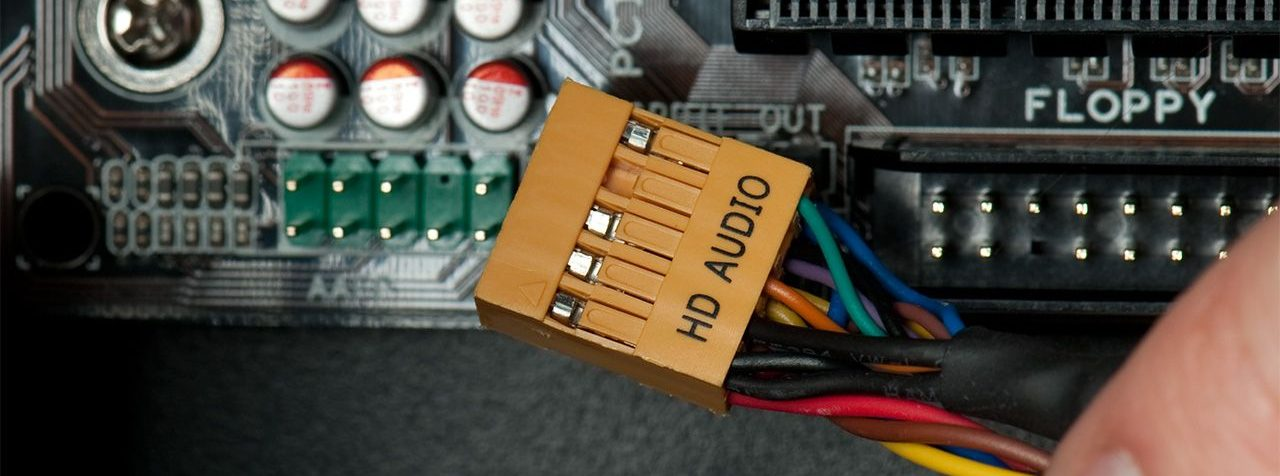 Motherboard audio port
