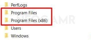 Program Files Folders in Windows