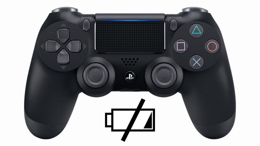 Ps4 Controller With A Battery Icon