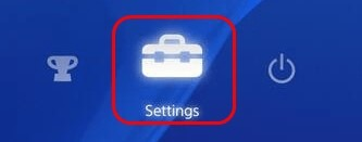 Settings Icon of Playstation 4