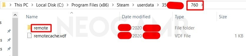 Steam Remote Folder in Program File (x86)
