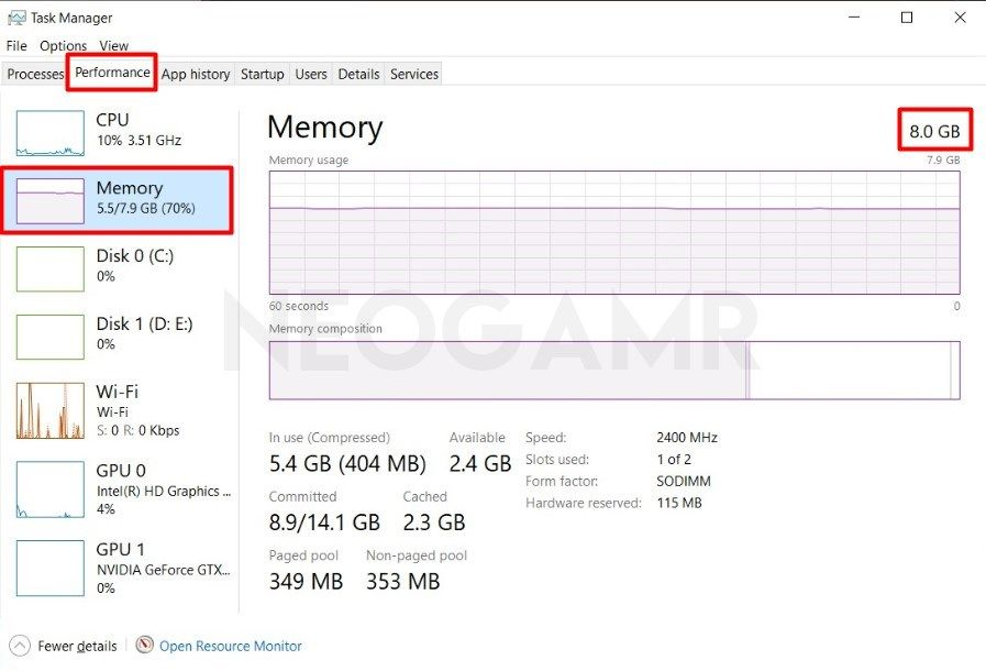 Check your ram capacity in Task Manager