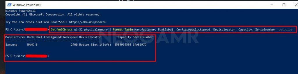 Type Get-WmiObject Windows Powershell