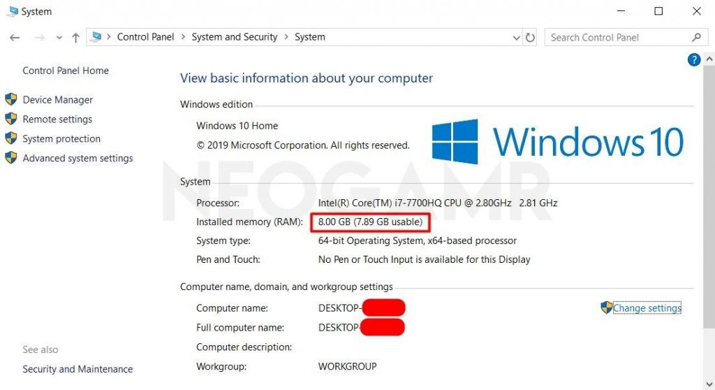Windows Device Specifications