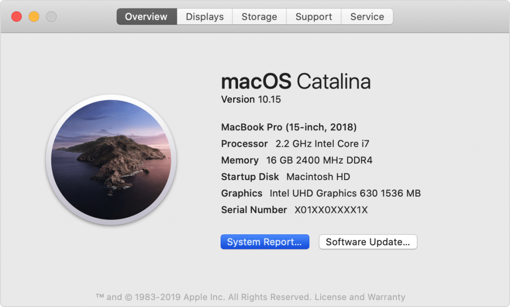 macos catalina mac overview system