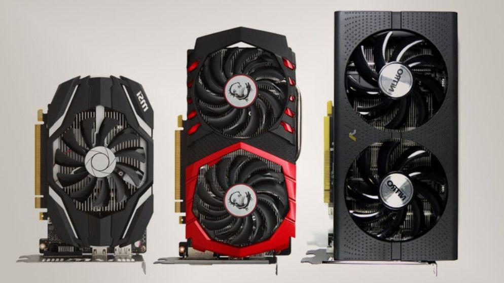 Comparing three GPU's Width