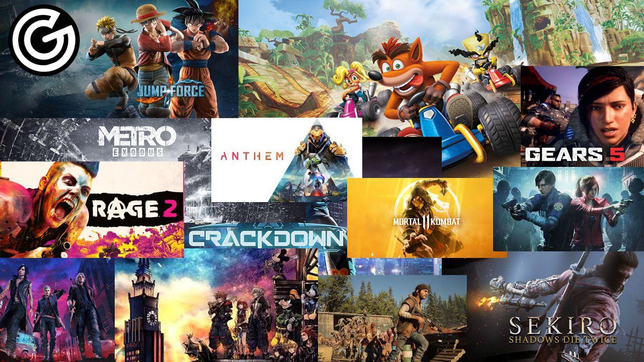 Different video games covers