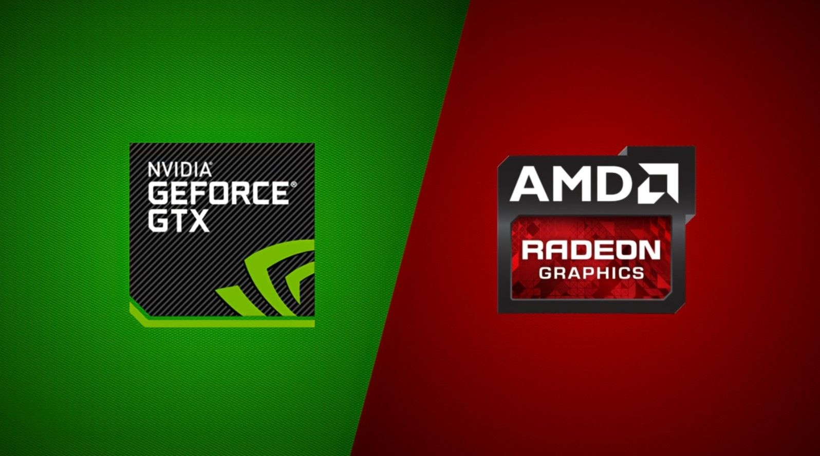 Logos of Nvidia and AMD