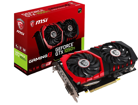 Small Product Image of MSI GeForce GTX 1050 TI Gaming X