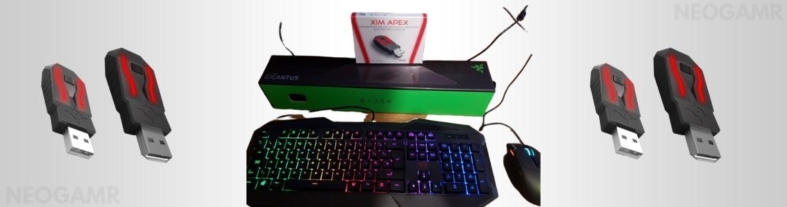 Xim Apex device with gaming keyboard and mouse