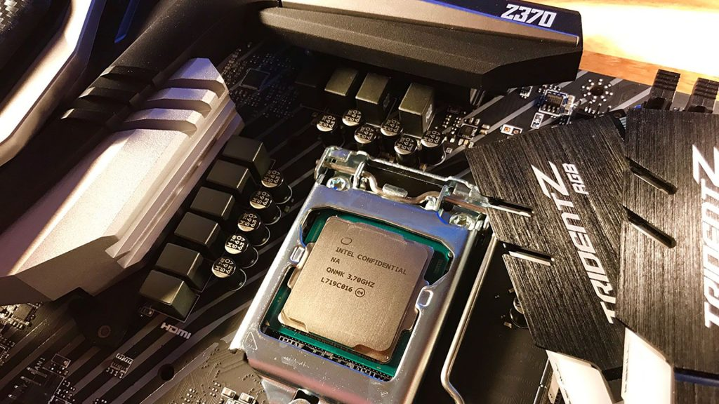 Z370 motherboard's internal structure