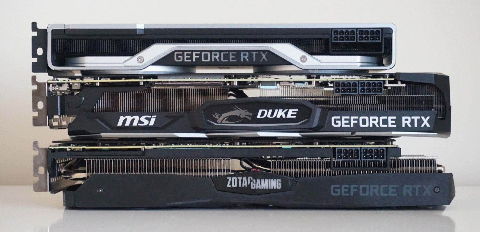 Comparing graphics card sizes
