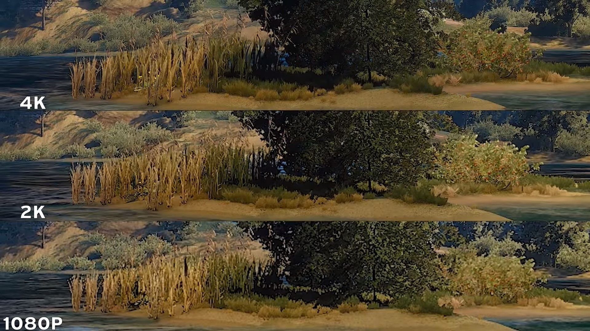 Differences in 4k 2k and 1080p resolution