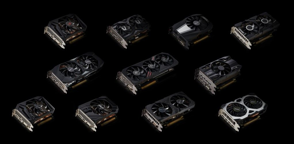 Image of GPUs with black background