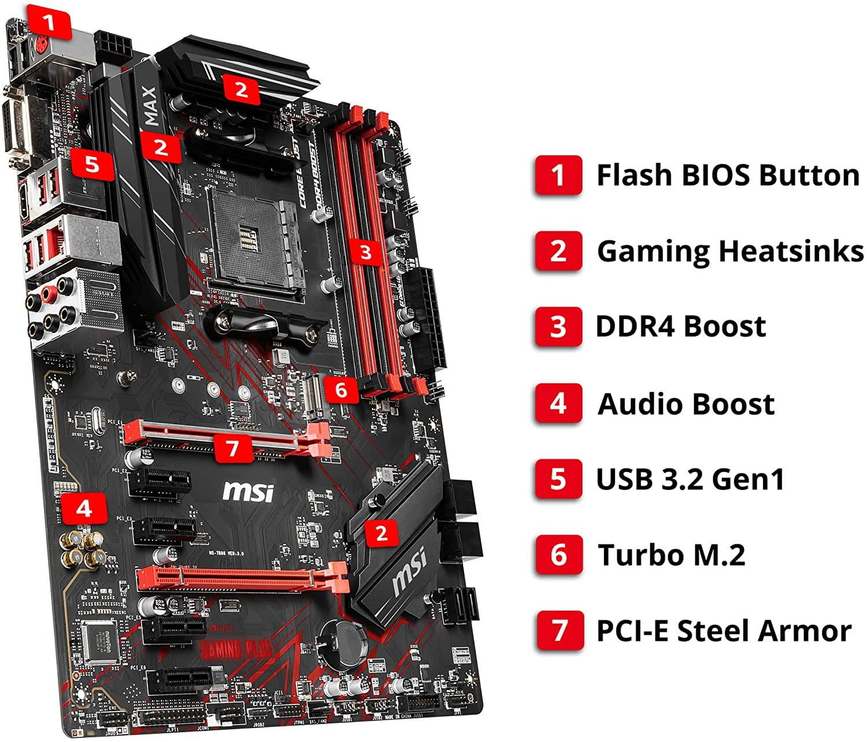 MSI B450 Gaming Plus Max Photo 2