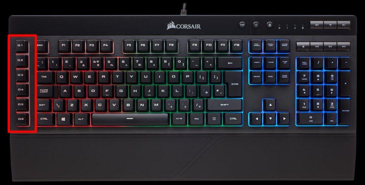 Showing Macro Keys on a Gaming Keyboard