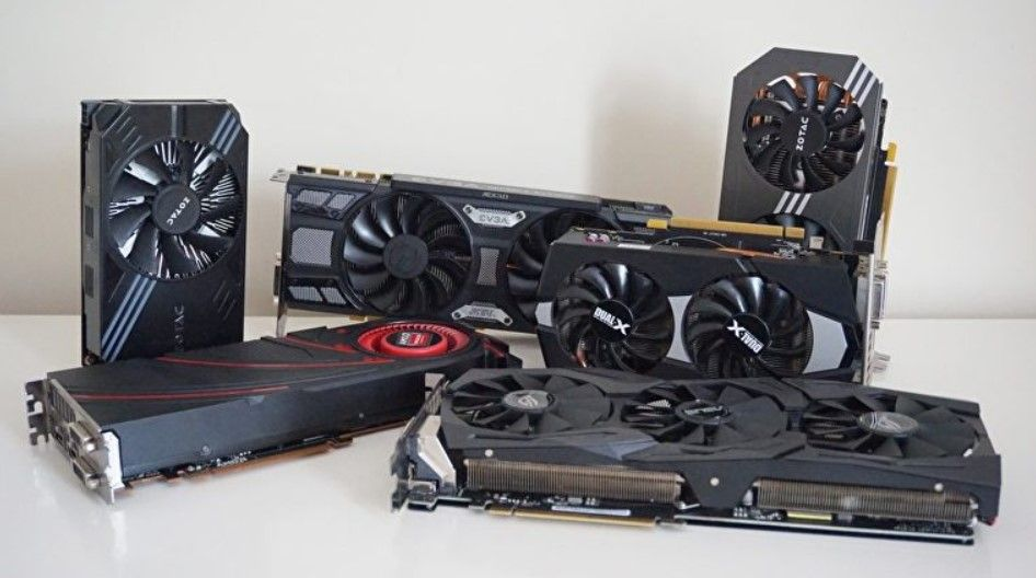Couple of graphics cards in the table