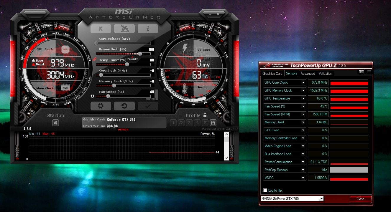 Over Clocking the GPU with MSI Afterburner