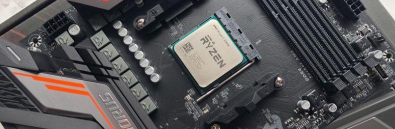 An AMD Ryzen motherboard