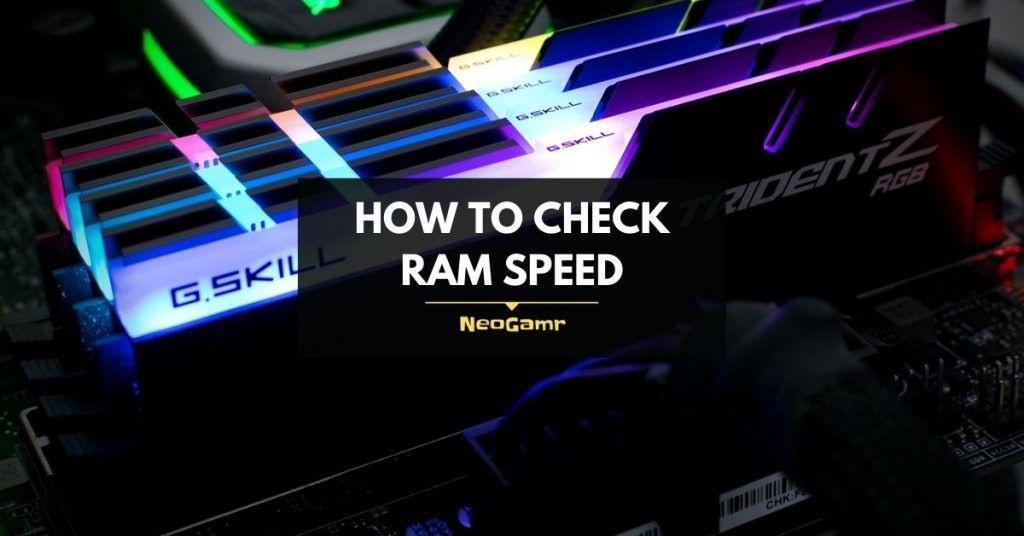 How to check ram speed