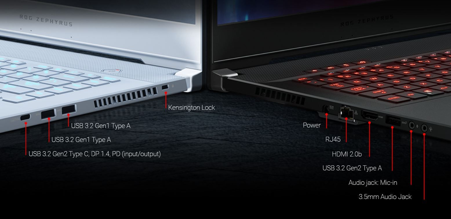 Ports of Asus ROG Zephyrus M Thin