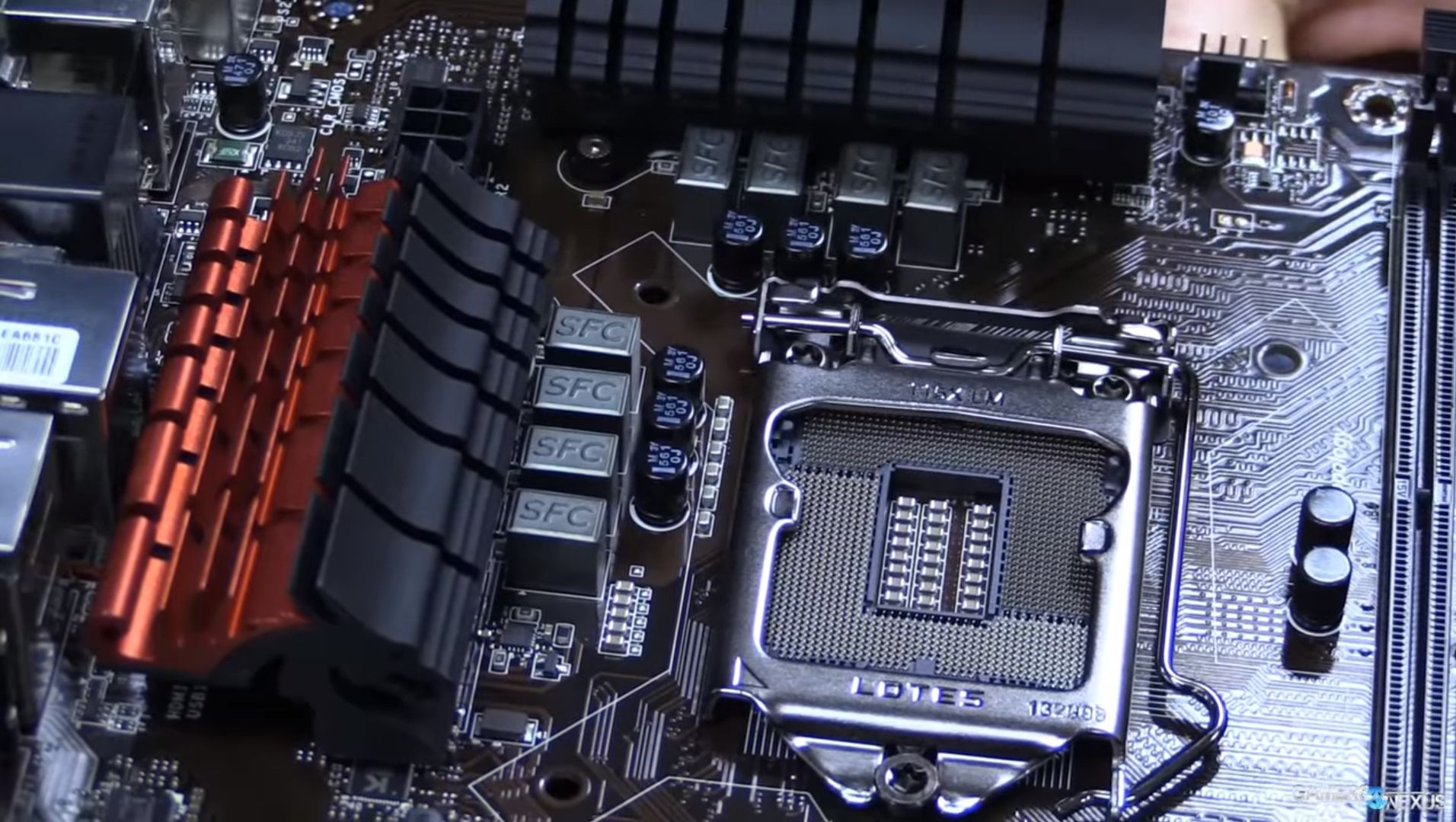 a closeup look at VRM of mobo