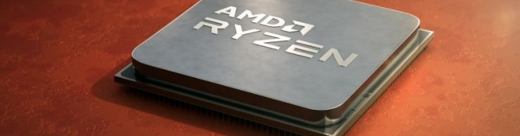 A processor with AMD logo on it