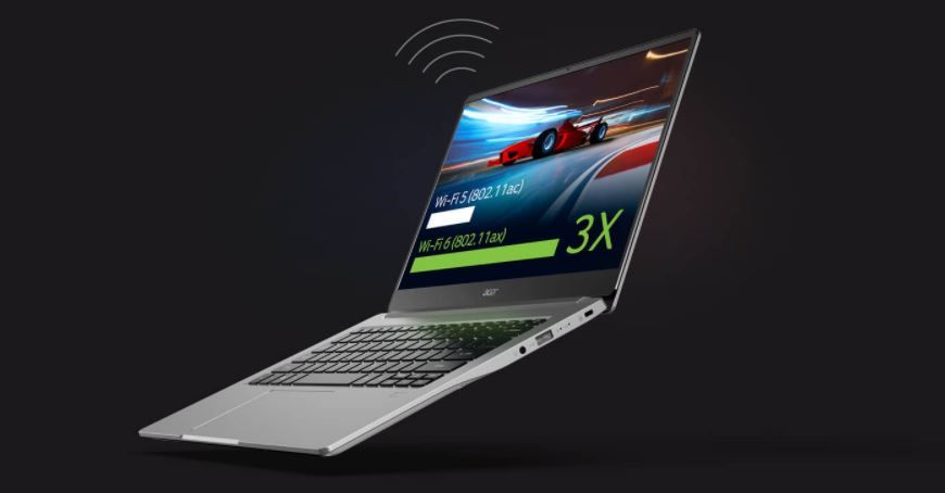 CGI Image Of Acer Swift 3 Showing WiFi 6