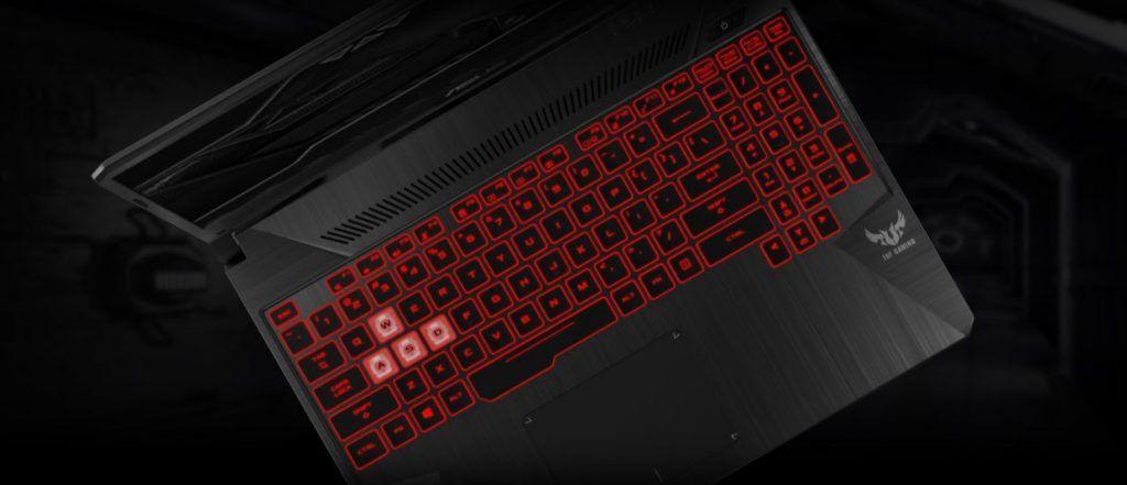 CGI Image of Asus TUF FX505 Keyboard