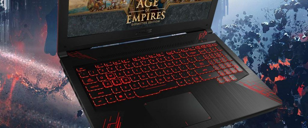 Keyboard of the Asus TUF Gaming FX504 Laptop