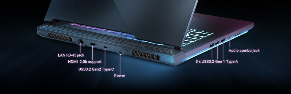 Ports of ASUS ROG Strix G15
