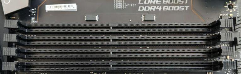 Ram Slots inside a motherboard
