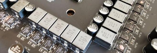 VRM system inside a x570 motherboard
